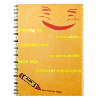 Upsidy smiley spiral notebooks