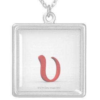 Upsilon Silver Plated Necklace