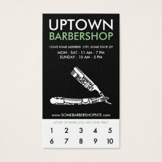 uptown barbershop icons coupon business card