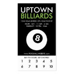 uptown billiards loyalty business card template