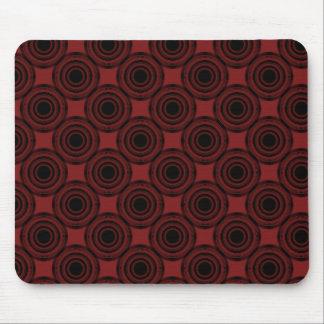 Uptown Trendy Circles Mousepad Crimson