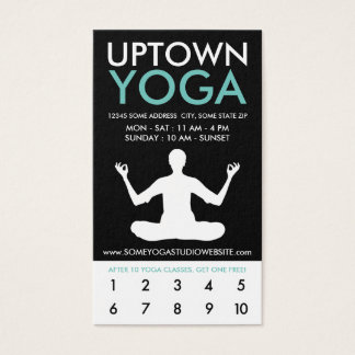 uptown yoga loyalty business card