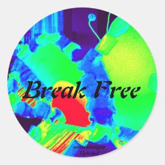 Uptrend , Break Free sticker in vivid colours