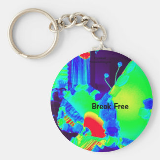uptrend butterfly in vivid  cheerful colours keych basic round button key ring