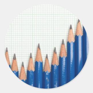 Uptrend chart round sticker