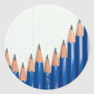 Uptrend chart classic round sticker