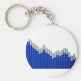 Uptrend Basic Round Button Key Ring