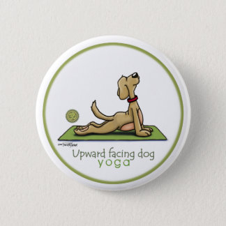Upward Facing Dog - yoga pose 6 Cm Round Badge