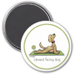 Upward Facing Dog - yoga pose 7.5 Cm Round Magnet