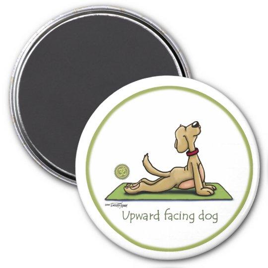 Upward Facing Dog - yoga pose 7.5 Cm Round Magnet