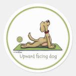 Upward Facing Dog - yoga pose Round Sticker