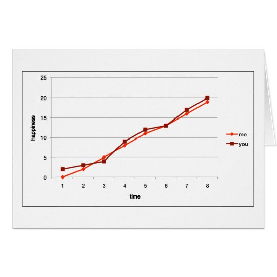 upward trend graph valentine's day card