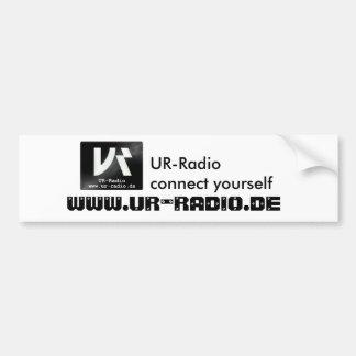 UR-radio autosticker Bumper Sticker