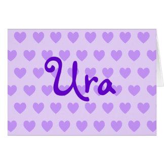 Ura in Purple Greeting Card