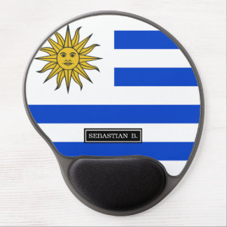 Uraguay flag gel mouse pad