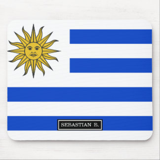 Uraguay flag mouse pad