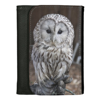 Ural Owl Leather Wallet For Women
