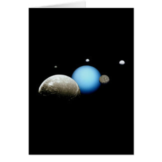Uranus and Moons NASA Planet Cards