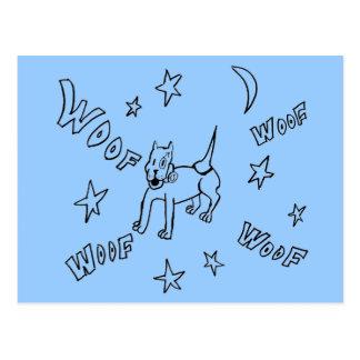 Uranus Barks All Night Long Postcard
