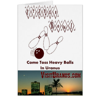 Uranus Bowl Greeting Card