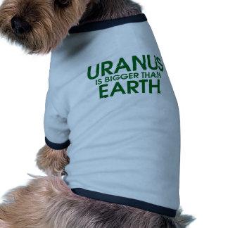 Uranus Is Bigger Than Earth Pet Tee Shirt