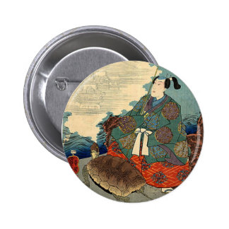 Urashima Taro and the Turtle Japanese Fairy Tale 6 Cm Round Badge