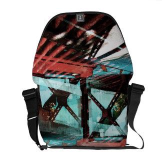 Urban abstract messenger bag
