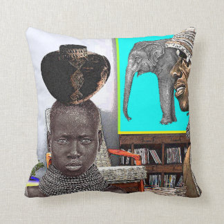 Urban African Design Throw Pillow