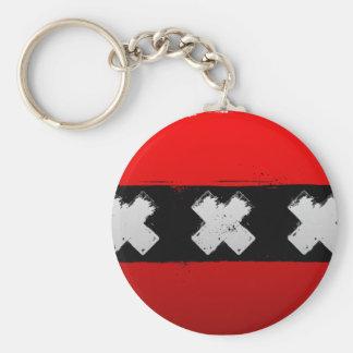 Urban Amsterdam Basic Round Button Key Ring