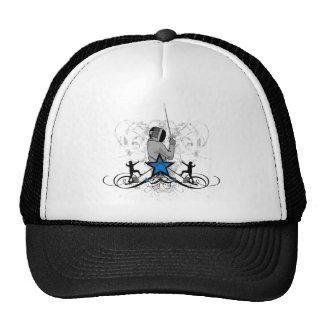 Urban and Hip Fencing Illustration Trucker Hats