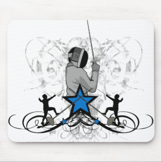 Urban and Hip Fencing Illustration Mouse Pad