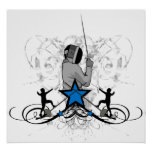 Urban and Hip Fencing Illustration Print