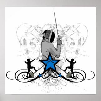 Urban and Hip Fencing Illustration Print