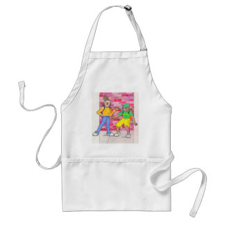 Urban anime art gallery characters standard apron
