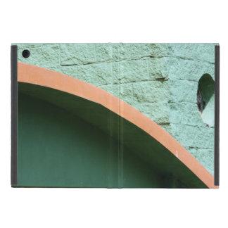 Urban architecture in green color case for iPad mini