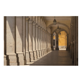 Urban Area Arched Corridor Wood Print
