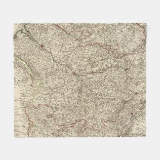Urban areas of France 2 Fleece Blanket
