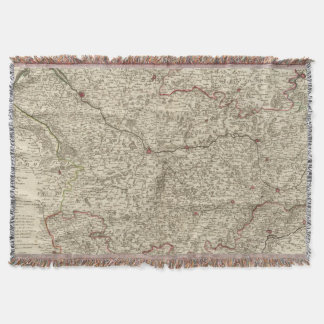Urban areas of France 2 Throw Blanket