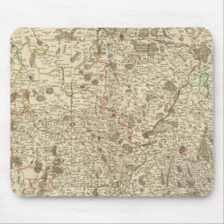 Urban areas of France Mouse Mat