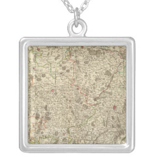 Urban areas of France Silver Plated Necklace