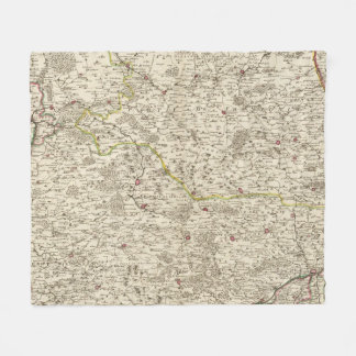 Urban areas of Germany 2 Fleece Blanket