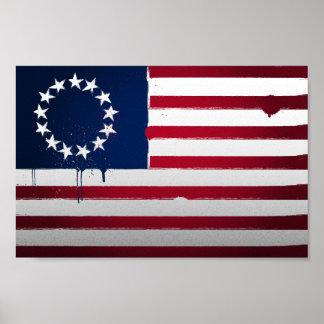 Urban Betsy Ross Flag Poster