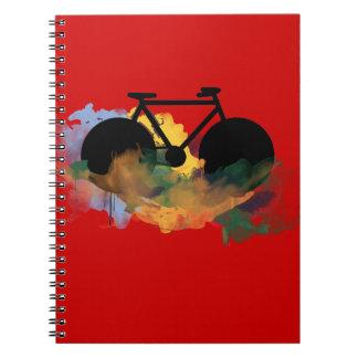 urban bicycle art graphic illustration notebooks