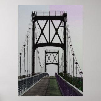 Urban Big City Bridge Travel Poster