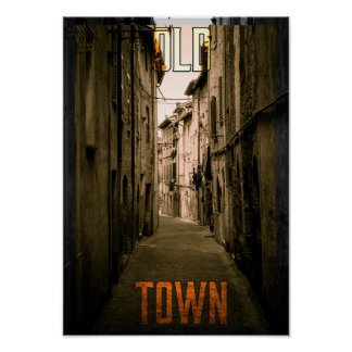 Urban Big City Old Town Poster
