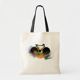 urban bike-art graphic illustration tote bag