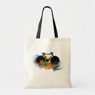 urban bike-art graphic illustration tote bag