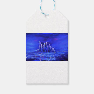 Urban blue design by Jane Howarth Gift Tags