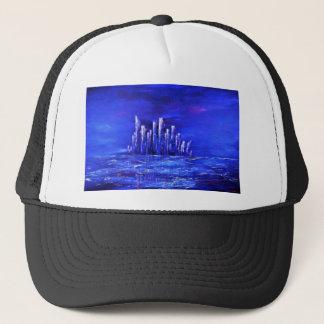 Urban blue design by Jane Howarth Trucker Hat