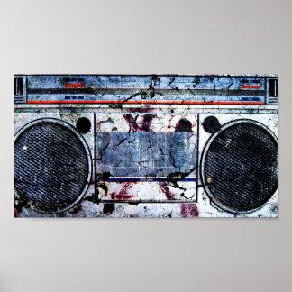 Urban boombox poster